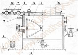 Заварочная машина Х3М-200/300/600 для выработки жидких дрожжей, заварных сортов хлебобулочных изделий - фото 5023