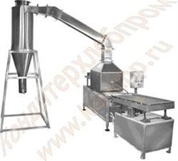 Установка для для очистки корпусов конфет, мармелада от крахмала с вибролотком - фото 5072