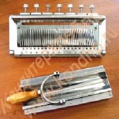Устройство ручное для резки полубатона мармелада на равные доли - фото 5438