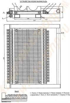 Устройство резки батонов мармелада ручное - фото 5478