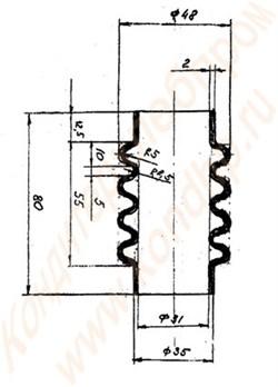 Резиновый гофрированный шланг к зефироотсадочной машине А2-ШОЗ - фото 5503