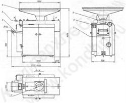 Тестоделитель вакуумно-поршневой А2-ХПО/5 - фото 5553