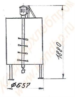 Машина мочкопротирочная вертикальная лопастная периодического действия активаторного типа - фото 5922