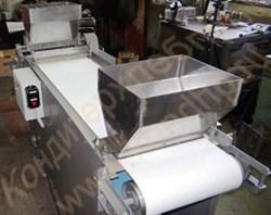 Машина для гильотинной резки пластов кондитерских масс, батонов (полубатонов) мармелада (дозатор+устройство посыпки) - фото 6004