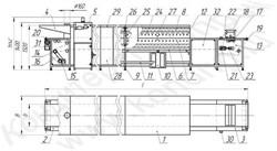 Тоннельная печь кондитерская шириной 330; 650; 950 мм с ленточным, сетчатым, цепным подом для противней - фото 6076