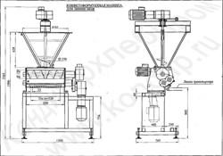 Машина выпрессовывающая отсадочная для производства жгутов конфетных (пралиновых) масс) ШПФ-16/18 - фото 6121