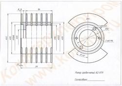 Сборочный чертеж ротора гребенчатого, нержавеющего к тестоделителю А2-ХТН - фото 6235
