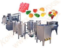 Линия производства желейных конфет, производительностью 150 кг/час - фото 6328