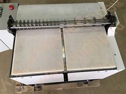 Машина дисковой одновальной, двухсекционной продольно-поперечной резки пластов кондитерских масс на корпуса конфет с  подвижным рабочим столом - фото 6465