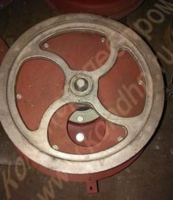 Шкив алюминиевый 3-х ручьевый привода редуктора тестомеса А2-ХТ-3Б, наружный Ø=610 мм - фото 6546