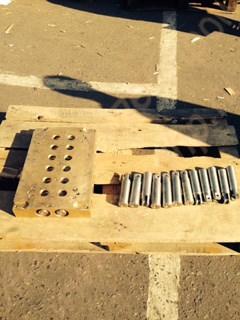 Корпус - плита бронзовая с плунжерами к машине 2-х рядной зефироотсадочной А2-ШОЗ - фото 6804