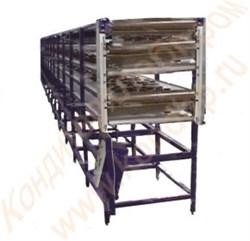 Конвейер ленточный многоуровневый для охлаждения кондитерских изделий после выпечки - фото 6971