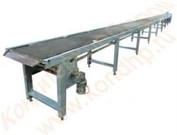Конвейер сетчатый одноуровневый для транспортировки и охлаждения кондитерских изделий после выпечки - фото 6973
