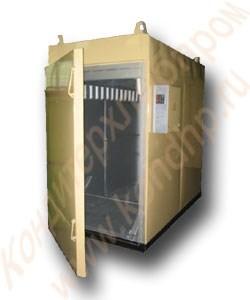 Термодымовая камера КТОМИ-300 двухрамная, нержавейка внутри (с тележками) - фото 6988