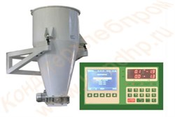 Дозатор для сыпучих продуктов на трех датчиках, с управляющим однокомпонентным контроллером, объём 100 литров ручная/электрическая заслонка (углеродистая сталь) ЭДСП - фото 7059