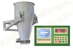Дозатор для сыпучих продуктов на трех датчиках, с управляющим однокомпонентным контроллером, объём 100 литров ручная/электрическая заслонка (нержавеющая сталь) ЭДСП - фото 7060