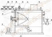 Заварочная машина Х3М-200/300/600 для выработки жидких дрожжей, заварных сортов хлебобулочных изделий