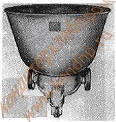 Дежа подкатная в сборе с чугунной литой кареткой на колесах Т1-ХТ2Д объемом 330 литров; А2-ХТД объемом 140 литров