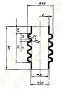 Резиновый гофрированный шланг к зефироотсадочной машине А2-ШОЗ