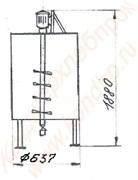 Машина мочкопротирочная вертикальная лопастная периодического действия активаторного типа