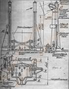 Дежеопрокидыватель двухвинтовой ПО-1 для подъема, опрокидывания, опускания дежи емкостью 330 литров (высота 1800 мм, время 90 сек)