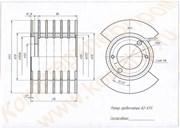 Сборочный чертеж ротора гребенчатого, нержавеющего к тестоделителю А2-ХТН