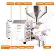 Мельница жерновая универсальная для измельчения сухих пищевых продуктов в муку или пасту