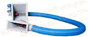 Гибкие транспортеры SP55; SP 75; SP 90;  SP125: загрузочно-разгрузочное устройство с мотор-редуктором 1,1/2,2 кВт и подшипниковым узлом из нержавеющей или углеродистой стали