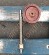 Винтовая пара (гайка бронзовая + винт стальной - ходовые) к механизму траверсы подъема тестомеса Л4-ХТВ на 140 литров; тестомеса А2-ХТ-3Б на 330 литров