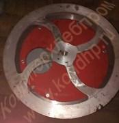 Шкив алюминиевый 2-х ручьевый привода редуктора тестомеса Л4-ХТВ,наружный Ø=410 мм