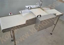 Машина горизонтальной резки бисквитных и хлебобулочных изделий на 2 части с одним ножом