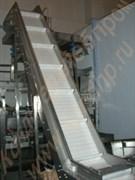 Транспортер скребковый наклонный для перемещения корнеплодов, овощей фруктов, сыпучих продуктов