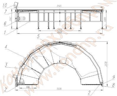 Поворотный конвейер 90 градусов чертеж машинист конвейера вакансии кемеровская область